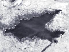 Frozen river 6 - stock photo