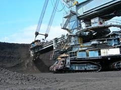 Coal digger in action - stock photo