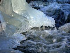 Frozen brook - stock photo
