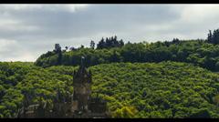 Timelapse, Cochem Castle, Mosel Area, Germany Stock Footage