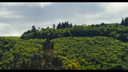 Timelapse, Cochem Castle, Mosel Area, Germany Stock Footage