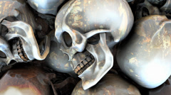 Human Skull Looping Background - stock footage