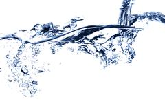 water stream falling - stock photo