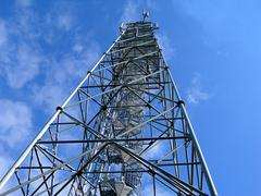 New broadcast tower Stock Photos