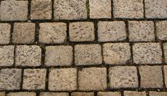 Ancient paving stone Stock Photos