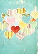 Valentine background - stock illustration