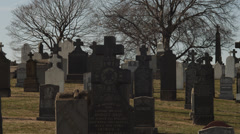 MS TU Old cemetery / Queens,New York City,New York,USA Stock Footage