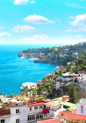 Stock Photo of Panorama of Naples and Mediterranean sea
