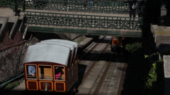 BUDA CASTLE FUNICULAR 03 Stock Footage