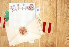 Letter to Santa Claus Stock Illustration