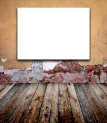 Old room with stucco wall - stock illustration