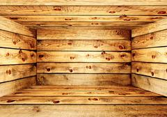Stock Illustration of Empty wooden box