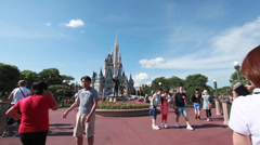Cinderella's Castle 9 Stock Footage