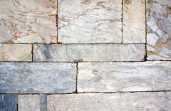 Wall of marble blocks - stock photo