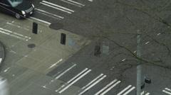 T/L WS HA Busy street intersection / Seattle,Washington,USA Stock Footage