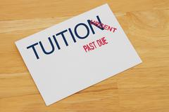 Tuition payment past due Stock Photos