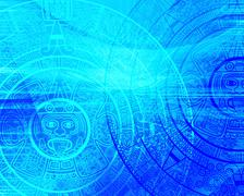 Maya prophecy - stock illustration