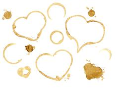 Hearts from coffee drops Stock Illustration