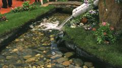 water  fall fountain Stock Footage