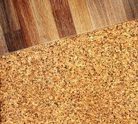 Stock Illustration of Oak parquet and cork flooring texture