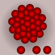 Pile of red balls on tint gradient Stock Illustration