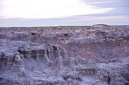 Stock Photo of raw badlands landscape - badlands national park, usa. u.s. national parks pho