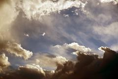 stormy summer sky. weather photo collection. - stock photo