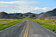Stock Photo of loop road - badlands national park, usa. summer in the badlands.