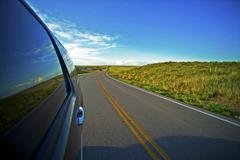 great plains journey. american highway thru south dakota. great getaway theme - stock photo