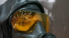 Respirator and TL5PRO light marker on a dummy - stock footage