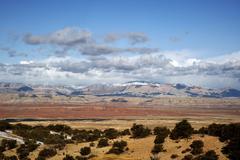 Utah wilderness landscape. utah, u.s.a. panoramic utah wilderness raw and roc Stock Photos