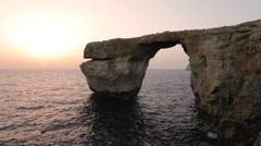 The Azure Window, Malta Stock Footage