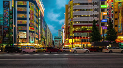 Stock Video Footage of Akihabara in Time Lapse, Tokyo, Japan