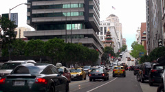 Road traffic at California street, San Francisco. California, USA. Stock Footage