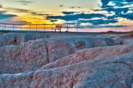 Stock Photo of the view point hdr - badlands national park, usa.
