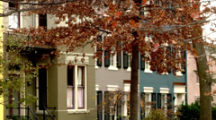 Washington DC Residential Area brownstones and townhomes Stock Footage