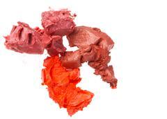 scraps of lipstick - stock photo