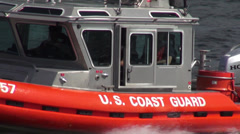 Coast Guard Cutters, Boats, Security - stock footage