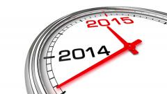 New Year 2015 Clock (with Matte) Stock Footage