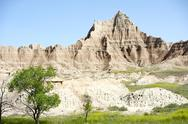 Stock Photo of badlands national park in south dakota, usa. badlands summer landscape