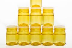 Cosmetic glass containers Stock Photos