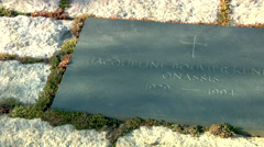 Gravestone of Jacqueline Kennedy Stock Footage