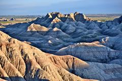 South dakota badlands landscape -badlands summer panorama. badlands sunset. n Stock Photos