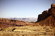 Stock Photo of raw utah rocky landscape. utah state - united states of america. utahs photo