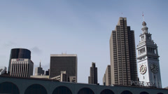 San Francisco Ferry Building. California, USA. Stock Footage