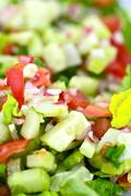 Stock Photo of tasteful vegetable diet salad. fresh organic vegetables. food photo collectio