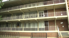 College dorm front view Stock Footage