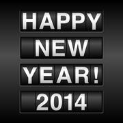 Happy New Year 2014 Odometer Background Stock Illustration
