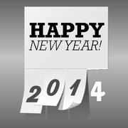 New Year 2014 Tear Off Paper Background Stock Illustration