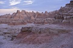 the badlands (mako sica) - badlands national park. the rugged beauty of the b - stock photo